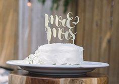 Mr. & Mrs. Cake Topper // ladawnelaine
