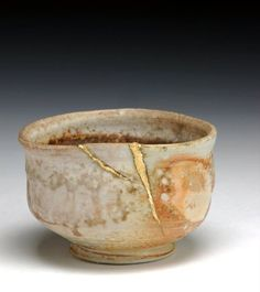 """When the Japanese mend broken objects, they aggrandize the damage by filling the cracks with gold. They believe that when something's suffered damage and has a history it becomes more beautiful."" - Billie Mobayed"