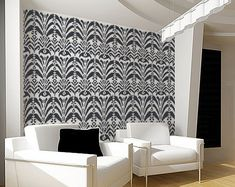 Stencil for Walls - Ikat Pattern no. 6 - Allover Wall Stencil - Reusable DIY Home Decor