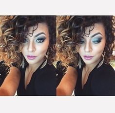 da @nathaliebarros, do Beauty Team da NYX do Morumbi Shopping: Eye Shadow Base White, para destacar ainda mais a cor do pigmento Turquoise (Loose Pearl Eye Shadow), delineador Gel Liner & Smudger Jet Black e máscara Le Frou Frou, da linha Boudoir. Nos lábios, o Black Label Lipstick Dusty Rose