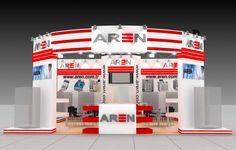 aren exhibition fair design 3d model