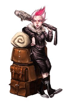 Female Gnome Adventurer - Pathfinder PFRPG DND D&D 3.5 5th ed d20 fantasy