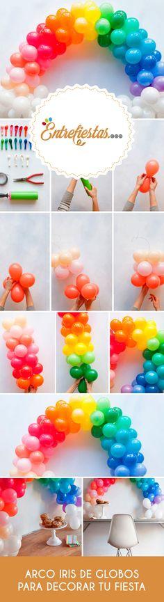 Rainbow Parties, Rainbow Theme, Baby Girl Birthday Dress, Unicorn Birthday, Birthday Party At Home, Birthday Party Decorations, Decoracion Baby Shower Niña, Baby Boy Themes, Balloon Decorations
