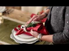 My How to Fold a Napkin video for beautiful holiday tables.