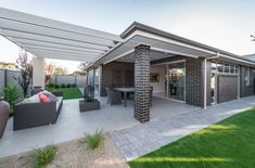 Love the clean lines significant pergola/arbor design for an outdoor space. Excellent design Clean Lines, Pergola, Journey, House Design, Space, Gallery, Building, Outdoor Decor, Home Decor