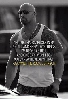 Motivational Fitness Quote  l  The Rock  l  Dwayne Johnson