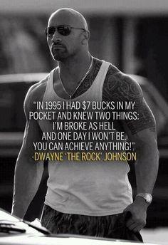 Motivational Fitness Quote l The Rock l Dwayne Johnson