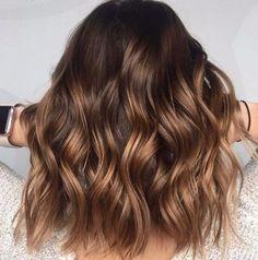 braune Haselnuss balayage Haar Farbe
