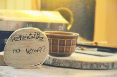 Drewniane podkładki pod kubki, Twój napis  w KREDKA Pracownia artystyczna na DaWanda.com