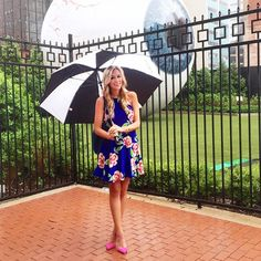 """  Not letting a little rain get us down today! "" (A Pinch Of Lovely)The rain can't stop this chick from FABULOUS style."