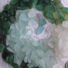 205 Sea Glass Shards Imperfections Art Mosaic by TidelineDesigns