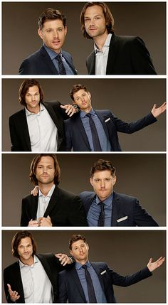 Jensen and Jared looking  good and be cute as usual at the TCA14