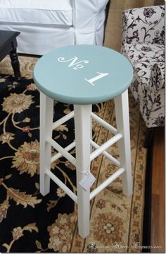 Quick stool makeover : Creative Home Expressions