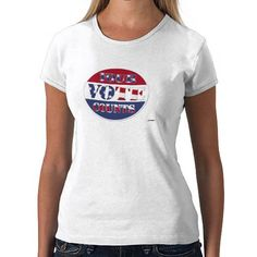 YOUR VOTE COUNTS! Round with US Flag    *This design is available on several products*