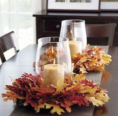 Grinaldas das folhas para decoração