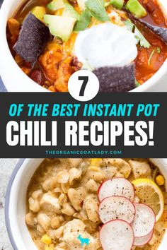 Chili is the ultimate fall comfort food! Give these seven chili recipes a try to find your favorite! #InstantPotRecipes #NaturalFoods #NaturalLiving #FallRecipes Winter Chili Recipe, Best Chili Recipe, Chili Recipes, Flavorful Chili Recipe, Best Slow Cooker Chili, Turkey Sweet Potato Chili, Sweet And Spicy, Quick Easy Meals, Fall Recipes