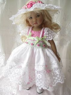 "Dianna Effner Little Darling Doll 13"" Kish Smocked Outfit Decidedly Romantic"
