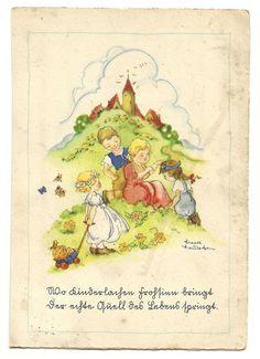 Liesel Lauterborn, Kinder auf der Wiese, 1944