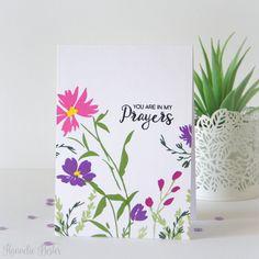 "Altenew: Wildflower Garden, OLC, try ""Daydreamer"" Flower Stamp, Flower Cards, Watercolor Cards, Watercolor Flowers, Card Making Inspiration, Making Ideas, Friendship Theme, Birthday Card Sayings, Altenew Cards"