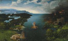 Joachim Patinir, El paso de la laguna Estigia. Museo del Prado