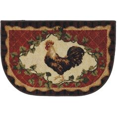 Captivating Mohawk Home Framed Rooster Kitchen Rug ($9.99) Via Polyvore