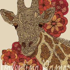 The Giraffe print. $15.00, via Etsy.