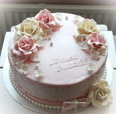 Cute Birthday Cakes, Mother Birthday, Rose Cake, Simple Flowers, Occasion Cakes, Peppa Pig, Confirmation, Cake Designs, Making Ideas