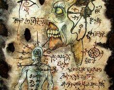 horror zombie occulto di Cthulhu NEGROMANTE Necronomicon di zarono