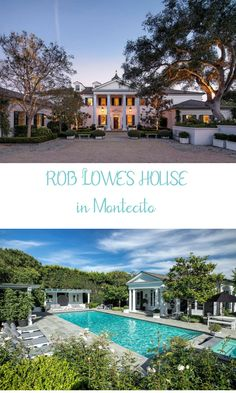 ROB LOWE'S HOUSE in Montecito CA is a beautiful classic Georgian-Style home he and his wife are selling. Stunningly Beautiful, Beautiful Homes, Georgian Style Homes, Rob Lowe, Storybook Cottage, Unusual Homes, Celebrity Portraits, Celebrity Houses, Ranch Style