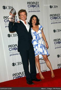 Simon Baker and Robin Tunney - 35th Annual People's Choice Awards - Press Room
