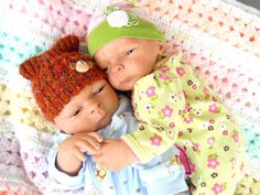 ADORABLE TWINS Reborn Baby Dolls Andrew & Autumn Twins Weighted girl and boy  OOAK. $300.00, via Etsy.