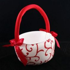 Google Image Result for http://www.recycledbride.com/uploads/listing/54/54663/red_and_white_flower_girl_basket_flower_girl_baskets_42038_view0.jpg    Candy's flowergirl basket