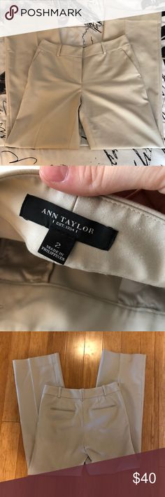 Ann taylor tan dress pants Super cute and classy Ann taylor dress pants. The inseam is 30 inches since they have been taken up on the bottom a little. Ann Taylor Pants Trousers