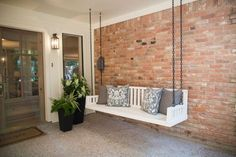 Fixer Upper Season 3  Renovation by Chip and Joanna Gaines  Front Porch Swing