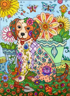 From Dazzling Dogs by Marjorie Sarnat, coloured by Alexis Rogers