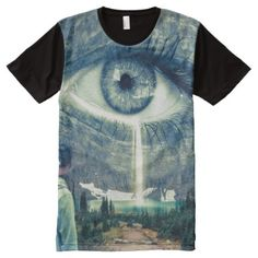 Shop All Seeing Eye From Heaven Custom Full Print Shirt created by BlockfamPublishing. Personalize it with photos & text or purchase as is! All Seeing Eye, Stylish Shirts, Harajuku Fashion, S Shirt, Custom Clothes, Unique Art, Printed Shirts, Custom Design, Heaven