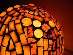 Chocolat - mosaic table lamp, home decor, unique, free shipping, Black Friday Sale 20% off