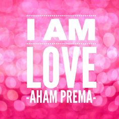 Oprah and Deepak's 21 Day Meditation Experience. Day 4: Feeling Love.  Centering Thought: I Am Love. Sanskrit Mantra: Aham Prema. #iamlove #expandinghappiness
