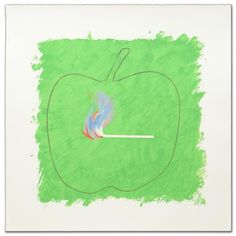 """""""Green Flame"""" Limited Edition Lithograph by Robert Beauchamp (1923-1995  