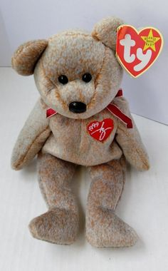 TY BEANIE BABY 1999 SIGNATURE BEAR DOLL COLLECTIBLE W// TAG FREE SHIP TO THE USA