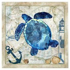 """Transform your home into a tranquil seaside oasis with this beautiful canvas print, perfect as a statement piece or composed as an imaginative beach-chic vignette   at jossandmain.com   Product: Wall artConstruction Material: CanvasDimensions: 16"""" H x 16"""" W"""