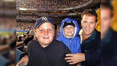 Joe Kelly with his two sons in Yankee Stadium on September 10, 2001, the night before the terrorist attack on the World Trade Center (and other locations in US) on 9/11. Over 2,996 people were killed & 6,000+ were injured in NYC alone.
