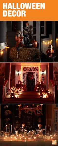 This Halloween, take your decoration ideas to the next level with an assortment of frightful decorations from The Home Depot. From lights with special effects to skeletons and animated characters, get everything you need to create your own spooky scene and transform your house into a fun and festive destination for ghouls and goblins alike. Browse Halloween décor at The Home Depot.