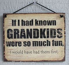 Wood Signs with Sayings | ... FUN Grandparent Funny Humor Quote Saying Wood Sign Wall Decor | eBay