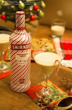 Need a quick holiday gift idea? These fun DIY mason jar cocktails are a big hit at office parties and christmas get togethers. The limited edition Peppermint Twist mini bottle is cute and tasty. The candy cane sweetness gives any cocktail a delicious seasonal flare.  Just mix 1oz Smirnoff Peppermint Twist, .5oz Bailey's Original, Crushed Candy Cane