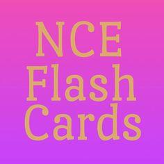 NCE Flash Cards #nceprep
