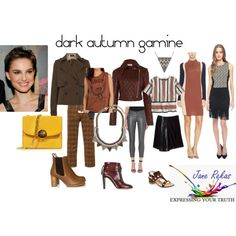 dark autumn gamine by expressingyourtruth on Polyvore featuring O'2nd, OBEY Clothing, J.Crew, Temperley London, Ella Moss, J Brand, Reed Krakoff, Chloé, Marc Jacobs and Trina Turk LA