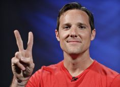 """Jason Russell, co-founder of the non-profit organisation Invisible Children and director of the """"Kony 2012"""" viral video campaign, poses in New York City. His video calls for the arrest of Kony, the fugitive rebel leader. Russell has agreed with sceptics who have called the film oversimplified, saying it was deliberately made that way."""