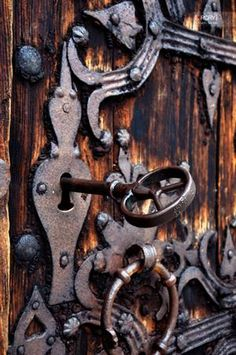love the old key and lock