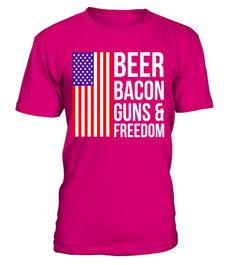 "# Beer Bacon Guns and Freedom T-shirt .  Special Offer, not available in shops      Comes in a variety of styles and colours      Buy yours now before it is too late!      Secured payment via Visa / Mastercard / Amex / PayPal      How to place an order            Choose the model from the drop-down menu      Click on ""Buy it now""      Choose the size and the quantity      Add your delivery address and bank details      And that's it!      Tags: Stand out of the crowd this Fourth of July…"